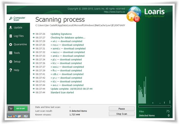 Loaris Trojan Remover - Imagem 1 do software