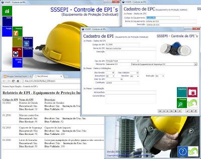 SSSEPI - Controle de EPIs - Imagem 1 do software