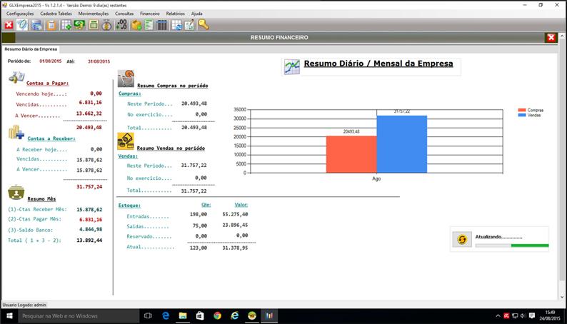 GLXempresa 2015 - Software de Gestão Empresarial - Imagem 1 do software