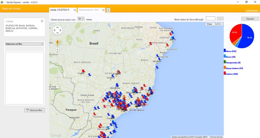 Mapa de Vendas - Imagem 1 do software