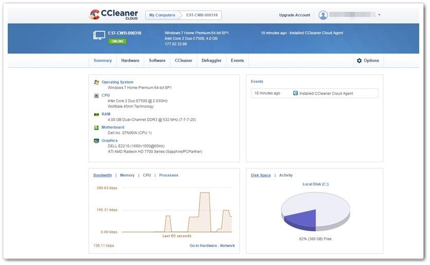 CCleaner Cloud - Imagem 1 do software