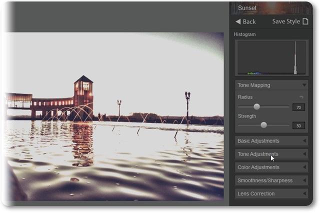 HDR Darkroom - Imagem 2 do software
