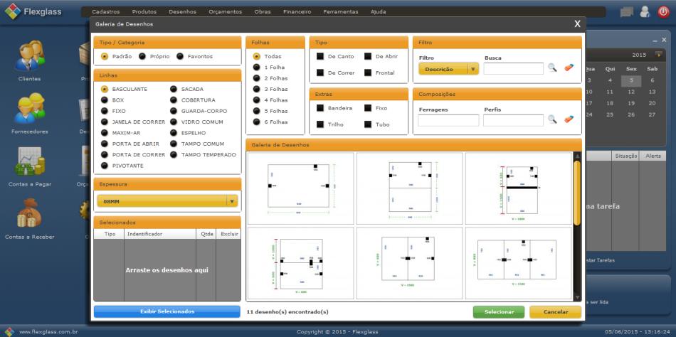 Flexglass - Software para Vidraçarias - Imagem 1 do software