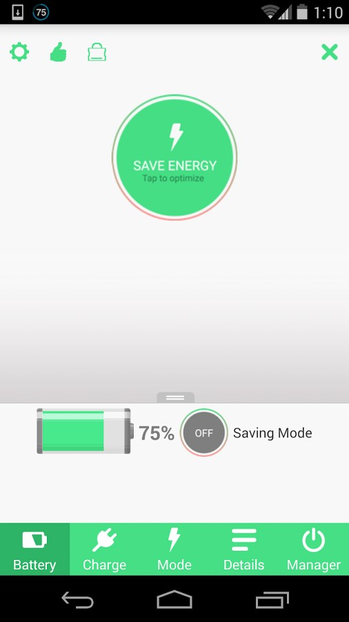 Battery Saver HD - Imagem 1 do software