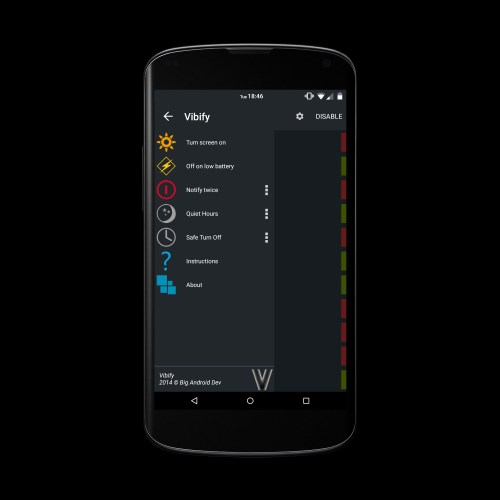 Vibify - Vibration Smart Alert - Imagem 1 do software