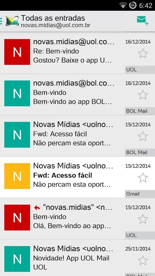 BOL Mail - Imagem 1 do software