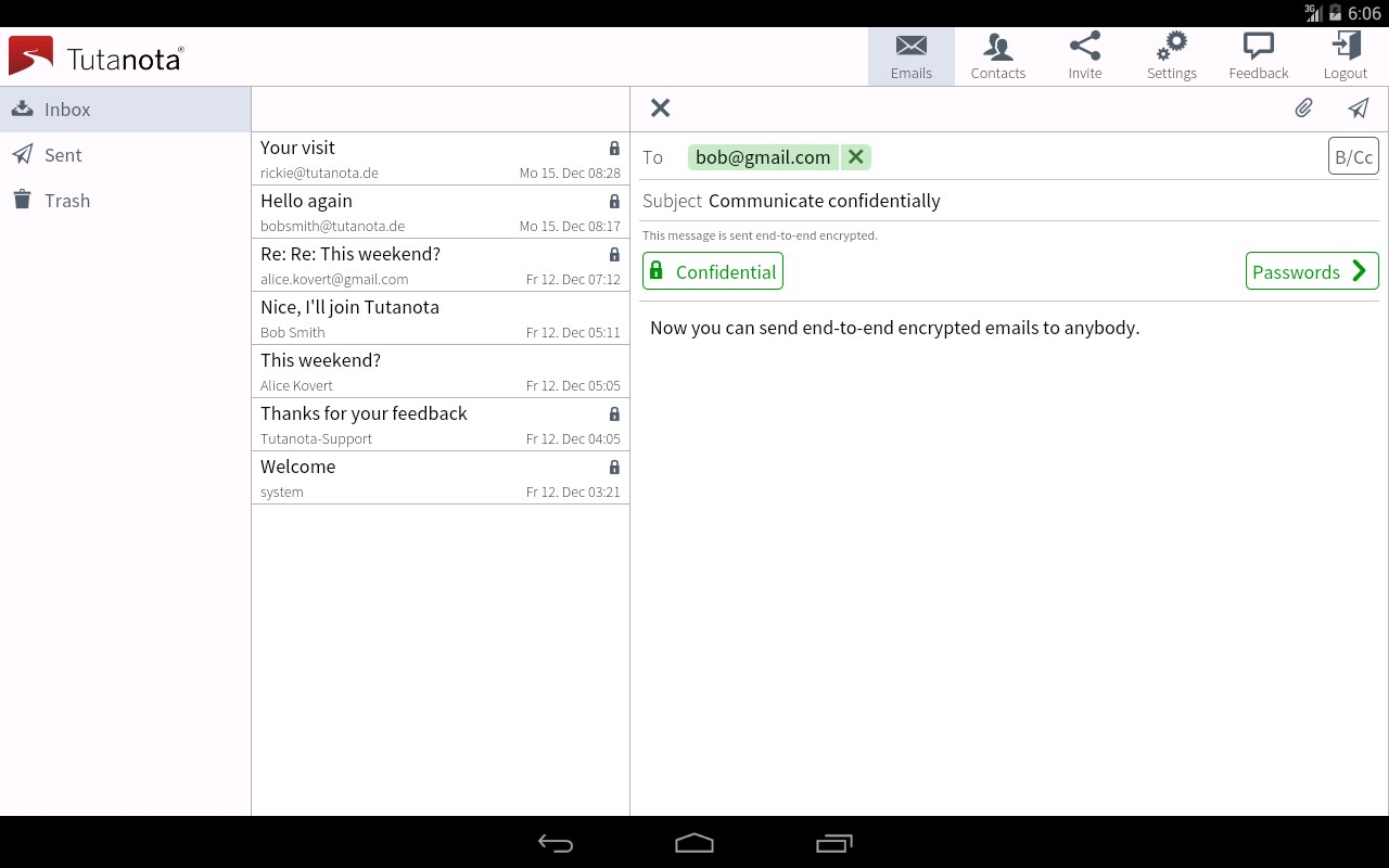 Tutanota: simply secure emails - Imagem 1 do software