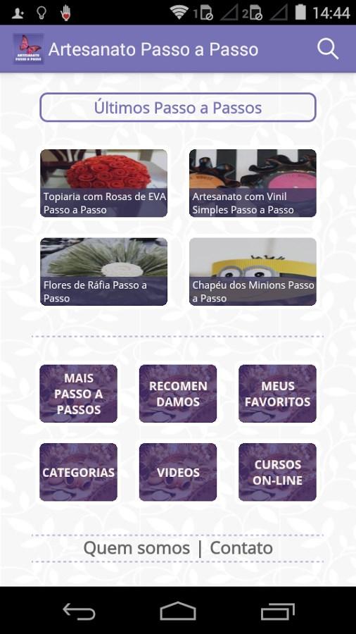 Artesanato Passo a Passo Já! - Imagem 1 do software