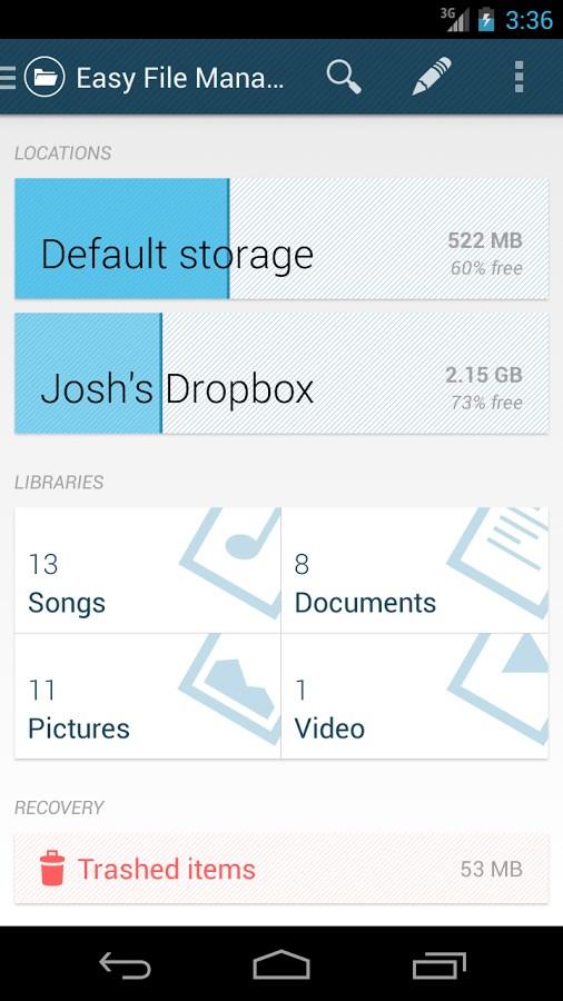 Easy File Manager (beta) - Imagem 1 do software