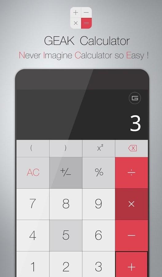 GEAK Calculator - Imagem 1 do software