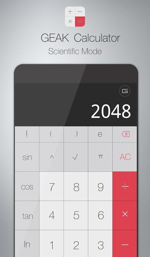 GEAK Calculator - Imagem 2 do software