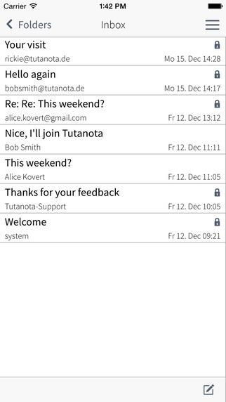 Tutanota - Imagem 1 do software