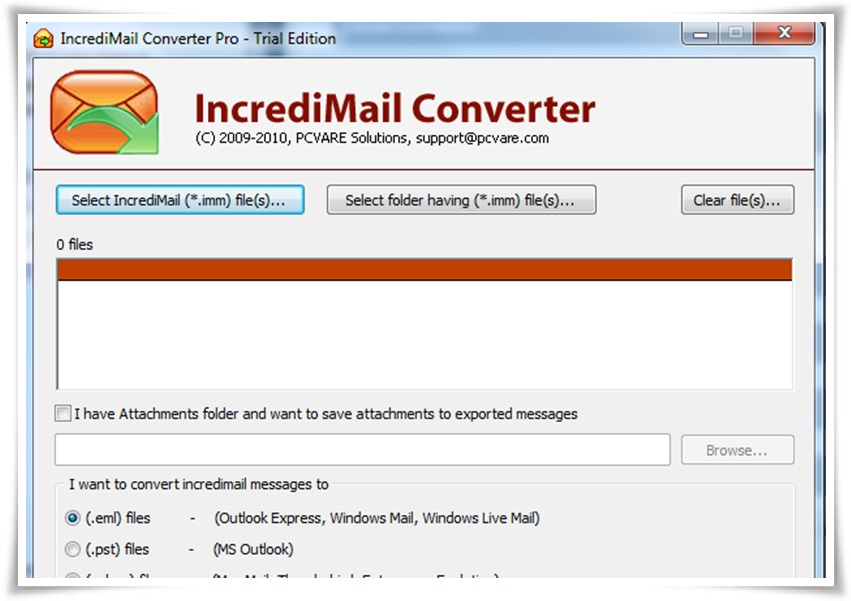 Incredimail Converter - Imagem 1 do software