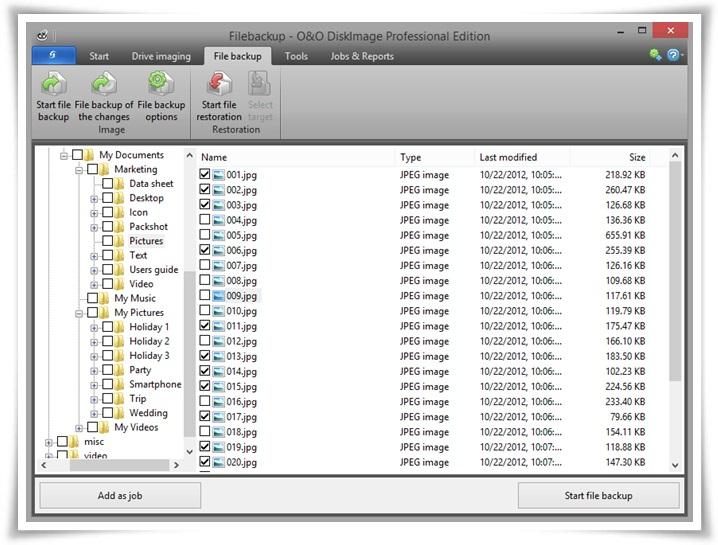 O&O DiskImage - Imagem 2 do software