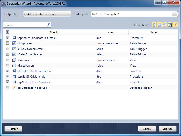 dbForge SQL Decryptor - Imagem 1 do software