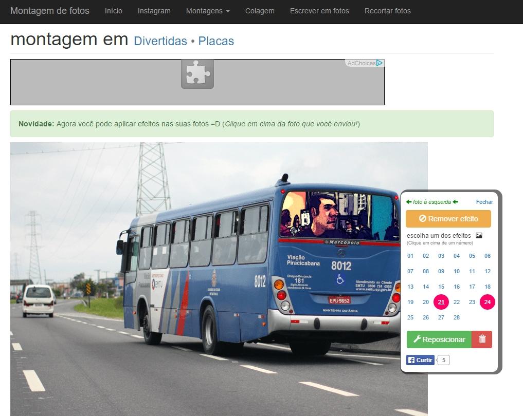 Montagem de Fotos - Imagem 1 do software