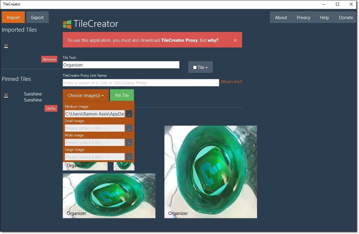 TileCreator - Imagem 3 do software