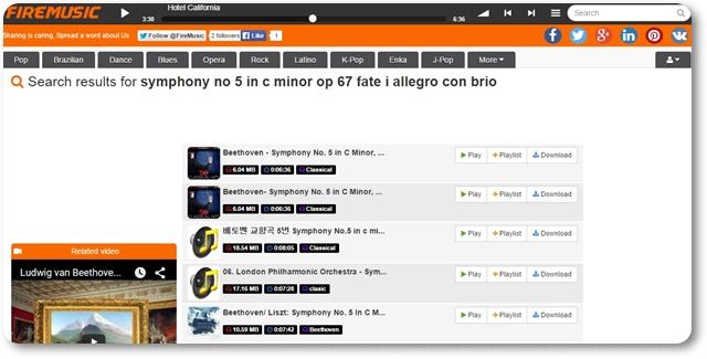 FireMusic - Free MP3 - Imagem 1 do software