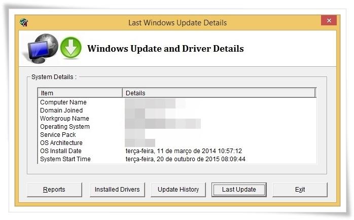Windows Update and Driver Details - Imagem 1 do software