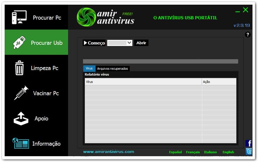Amir Antivírus - Imagem 1 do software