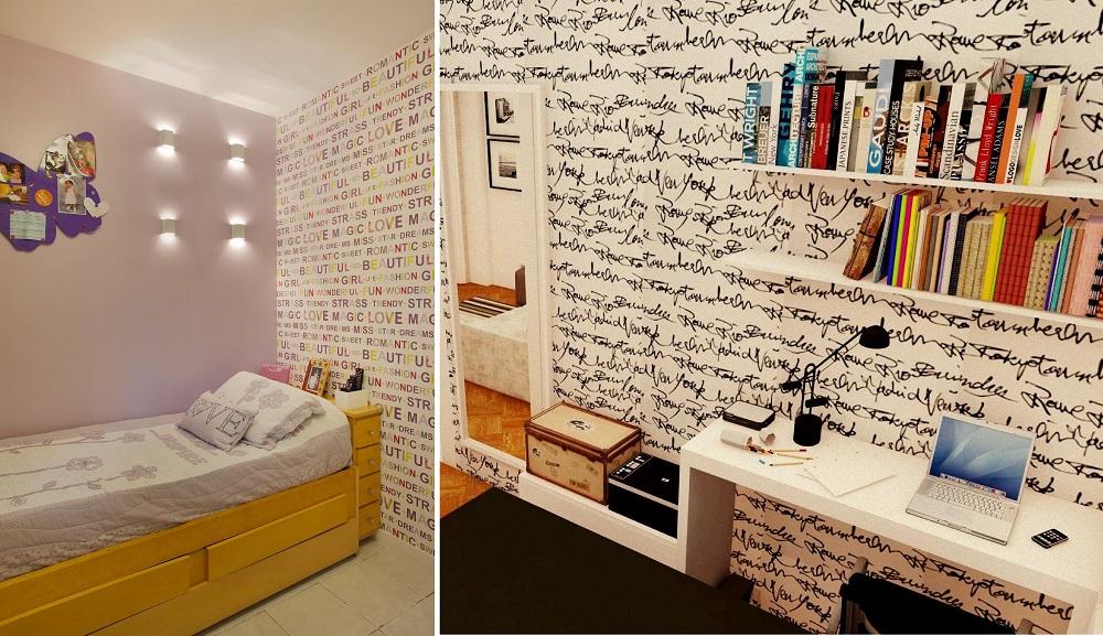 24 inspirações de papéis de parede para quarto feminino  Mega Curioso
