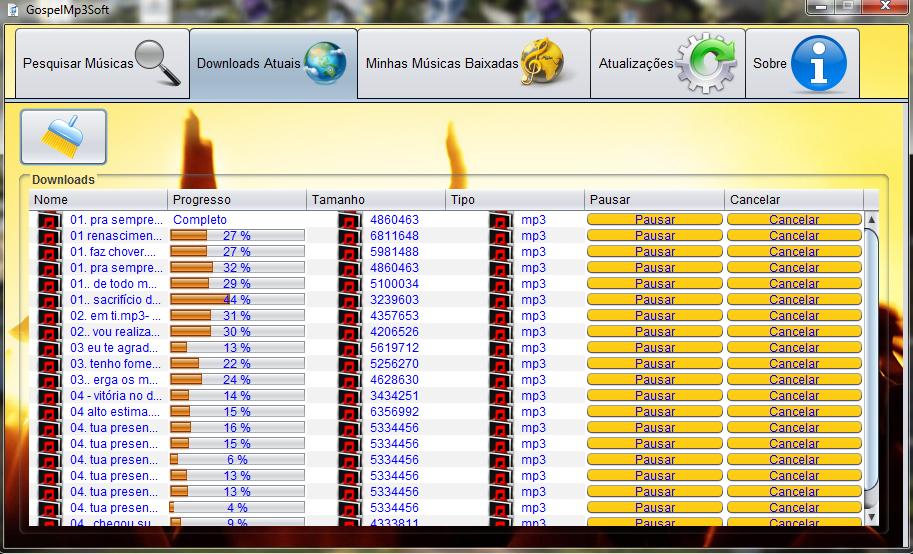GospelMp3Soft - Imagem 1 do software