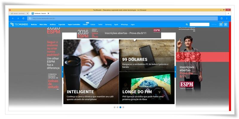 Liri Browser - Imagem 1 do software