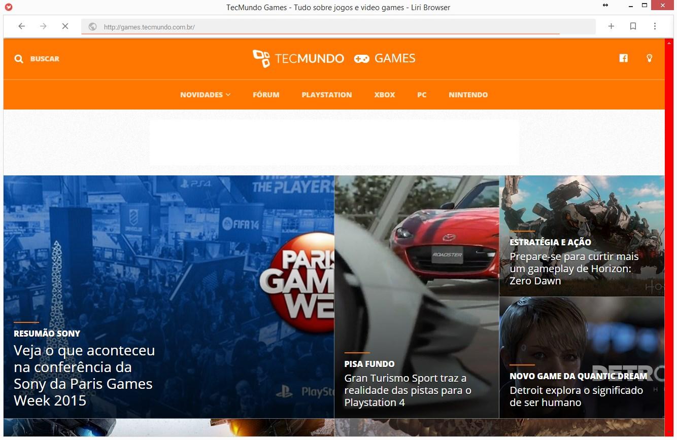 Liri Browser Portátil - Imagem 1 do software