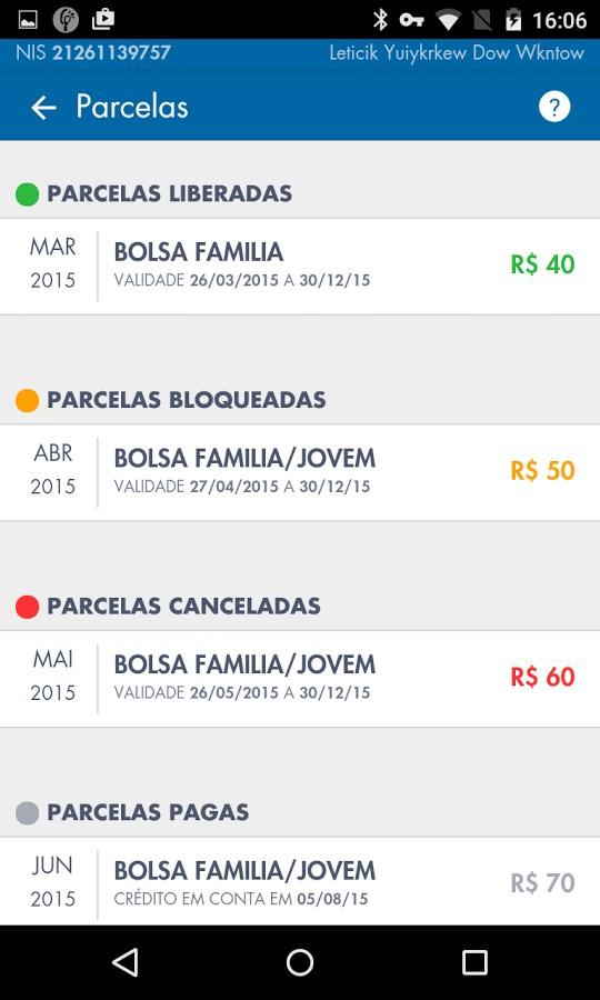 Bolsa Família - CAIXA - Imagem 2 do software