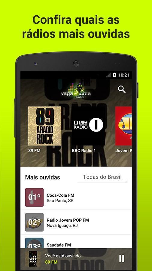 Vagalume Rádios - Imagem 1 do software