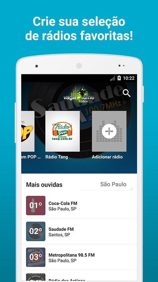 Vagalume Rádios - Imagem 2 do software