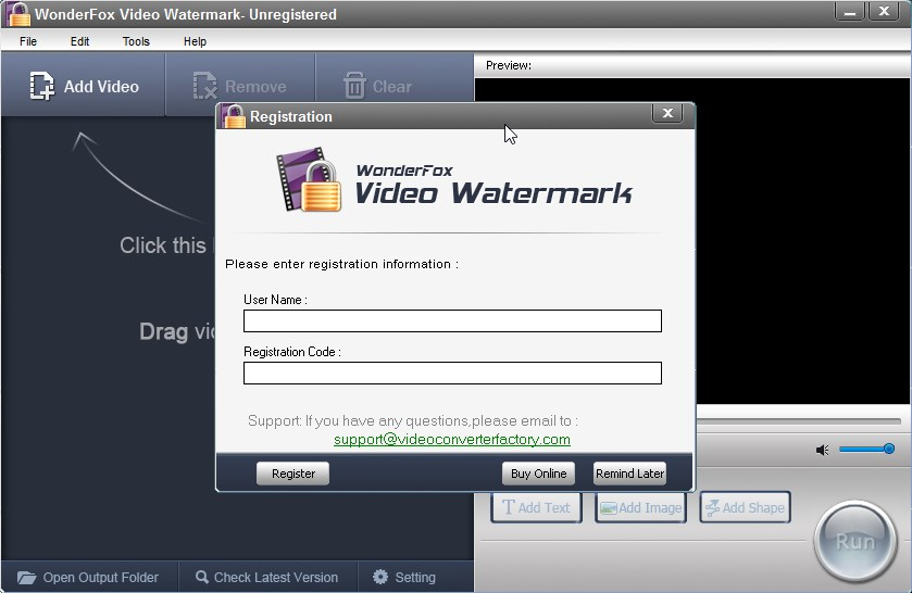 WonderFox Video Watermark - Imagem 2 do software