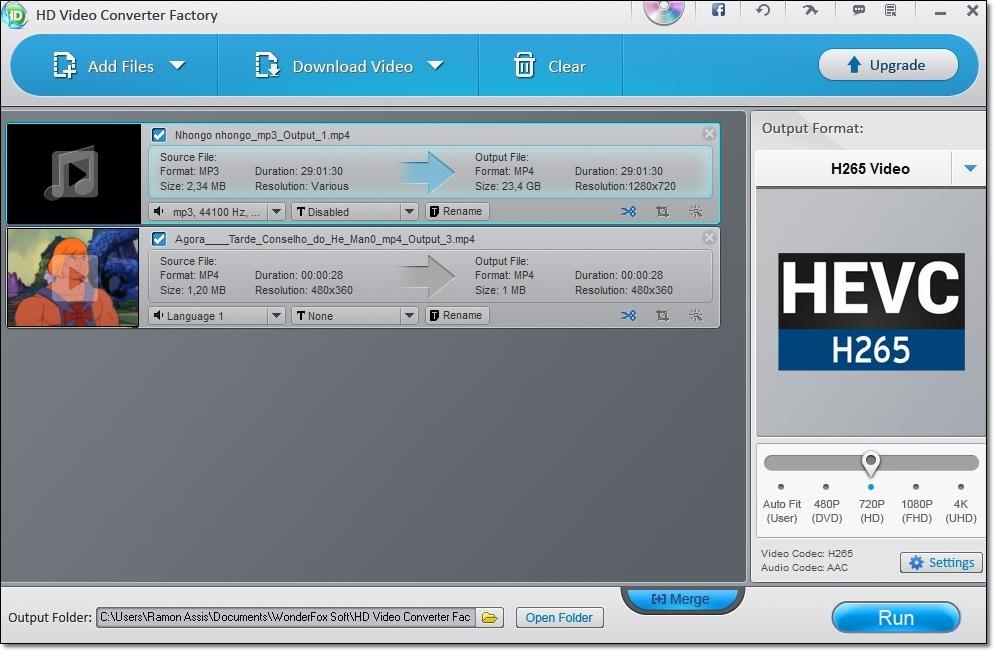 WonderFox Free HD Video Converter Factory - Imagem 1 do software