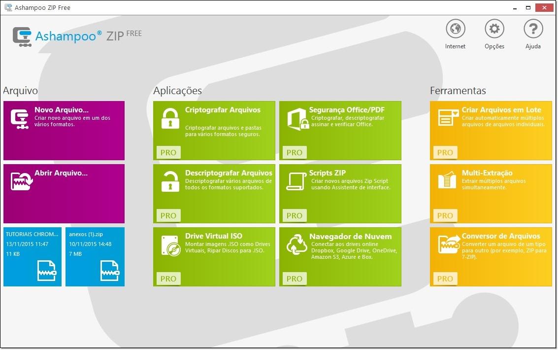 Ashampoo ZIP FREE - Imagem 1 do software