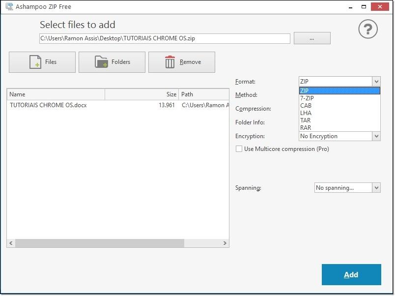 Ashampoo ZIP FREE - Imagem 3 do software