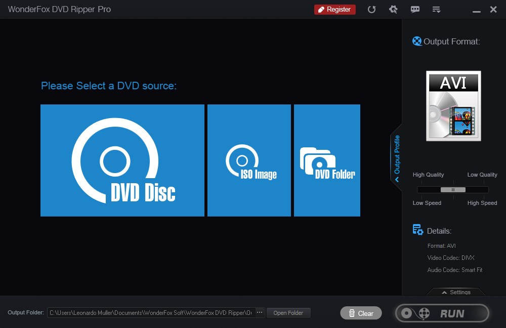 WonderFox DVD Ripper Pro - Imagem 1 do software