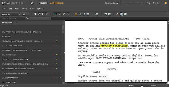 Adobe Story - Imagem 1 do software