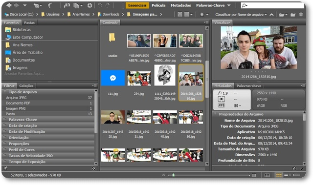 Adobe Bridge - Imagem 1 do software