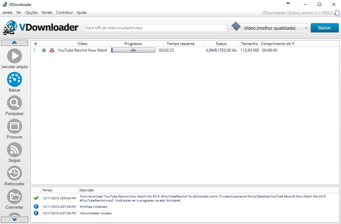 vdownloader gratis em portugues no baixaki