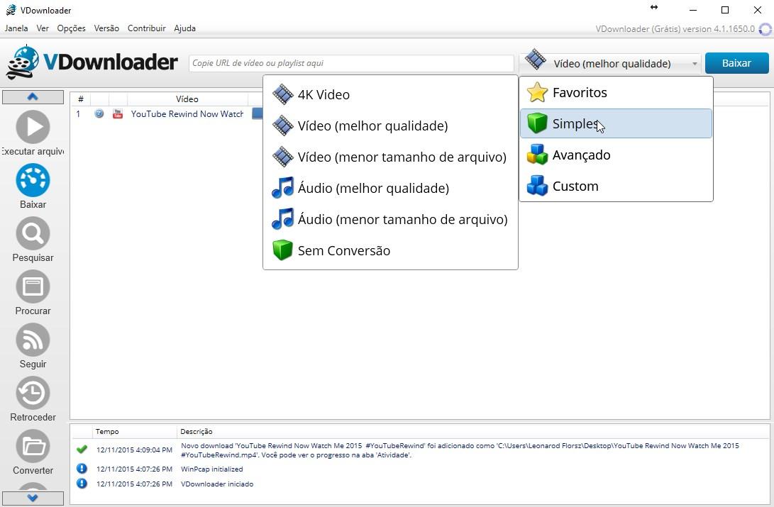 VDownloader Plus - Imagem 2 do software