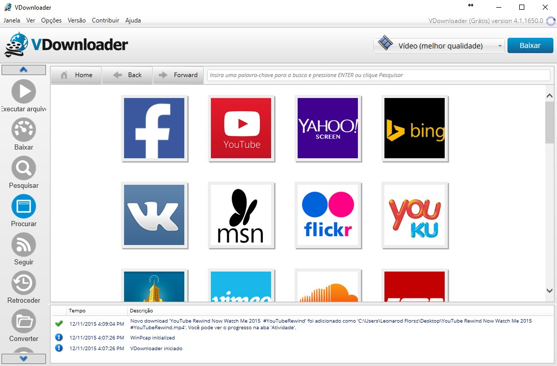 vdownloader plus gratis em portugues