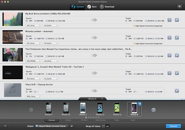 iSkysoft iMedia Converter Deluxe for Mac - Imagem 1 do software