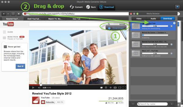 iSkysoft iMedia Converter Deluxe for Mac - Imagem 2 do software