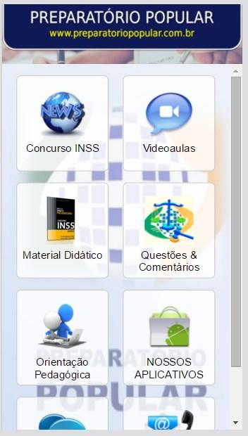 Concurso INSS 2016 ATUALIZADO - Imagem 1 do software