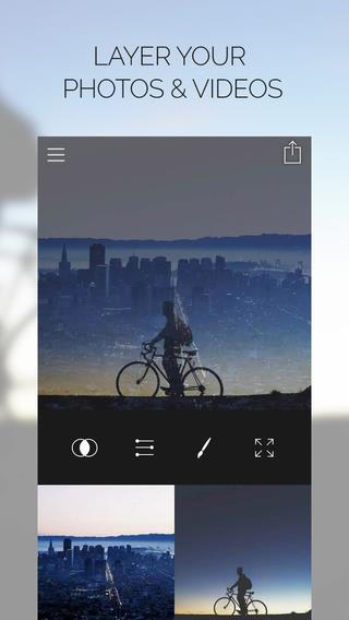Fused : Double Exposure, Video and Picture Blender - Imagem 1 do software