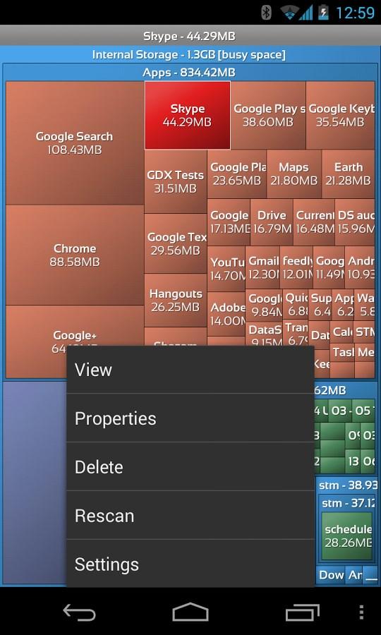 DataSize Explorer - Imagem 2 do software