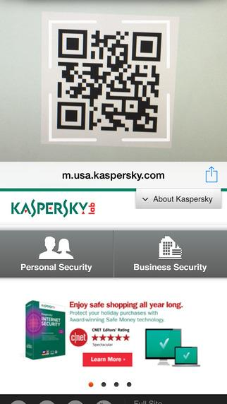 Kaspersky QR Scanner - Imagem 2 do software