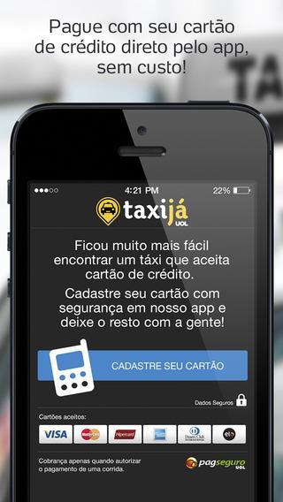 Taxi já UOL - Táxi no celular - Imagem 2 do software