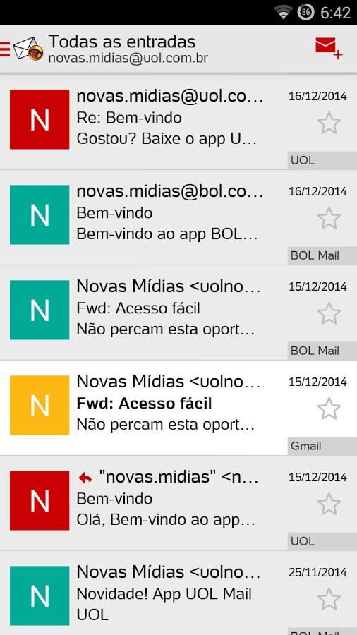 UOL Mail - Imagem 1 do software