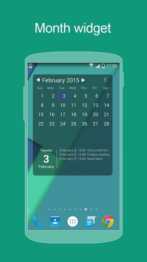 KK Calendar ( Lollipop style ) - Imagem 1 do software